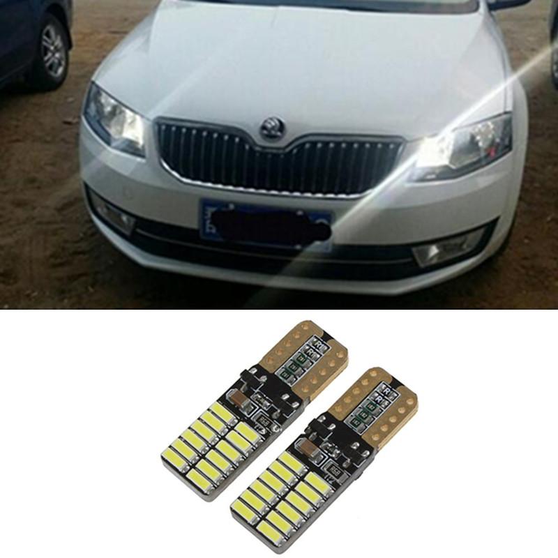 2 X T10 LED W5W LED Car Auto Lamp 12 V com lente do projetor para toyota corolla avensis rav4 yaris camry Car Styling(China (Mainland))