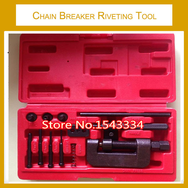 Free shipping Professional Removal Motorcycle Chain Tool, Chain Breaker Riveting Tool Kit Cutter ATV,Bike,Motorcycle,Cam Drive(China (Mainland))