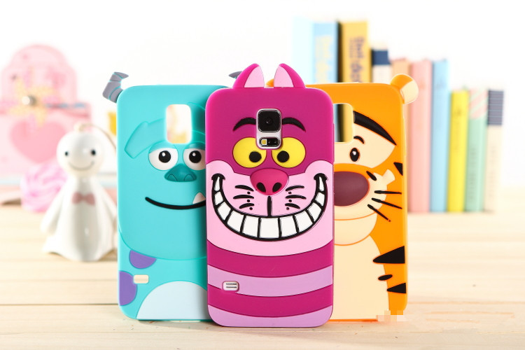 New 3D Cartoon Monsters University Sully Tiger Pattern Soft Case For Samsung Galaxy S5 G900F G900M G900I G900T G900W8 G900A(China (Mainland))