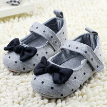 Buy 0-18Months Toddler Baby Girls Polka Dot Bowknot Crib Shoes Soft Sole Comfort Shoes Prewalker First Walkers X5 H2 for $2.23 in AliExpress store