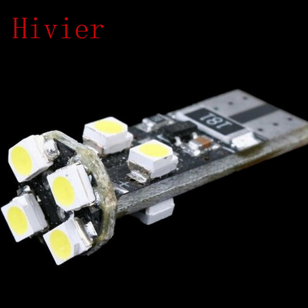 Car Led White 10X Canbus T10 8Led 8 Smd 3528 1210 No Obc Error 194 168 W5w 8smd Interior Instrument Light Bulb Lamp Wholesale(China (Mainland))
