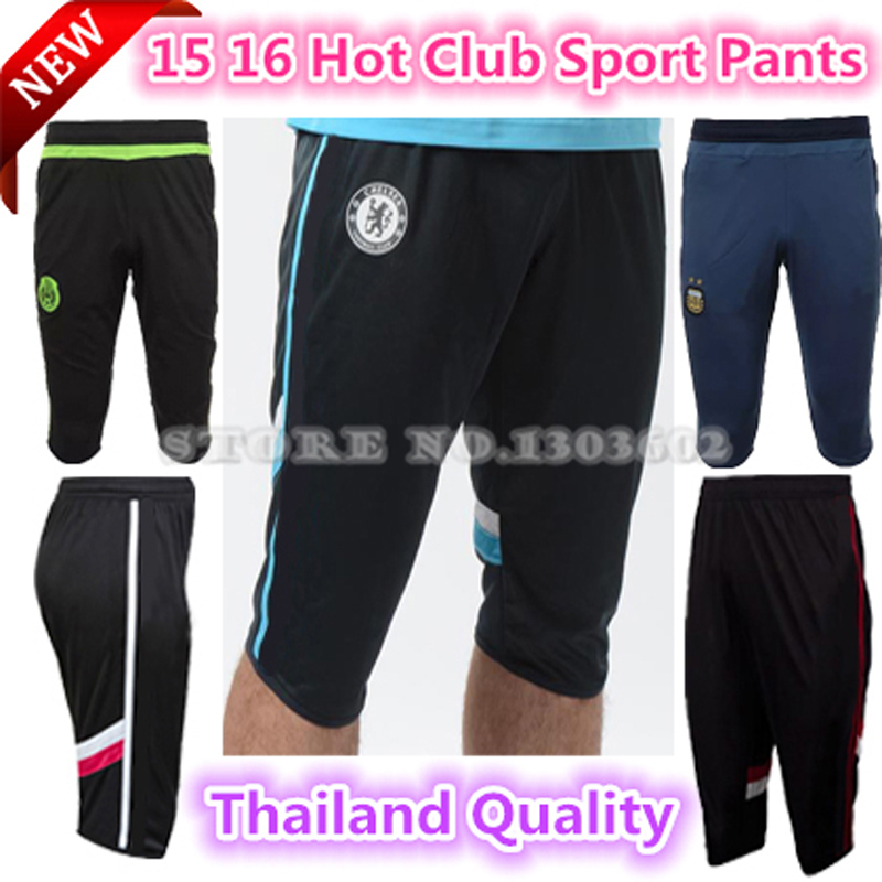 Top Thai quality chelsea Mexico AC 3/4 football pants and Hot club 3/4 football soccer sport cropped trousers training pants(China (Mainland))