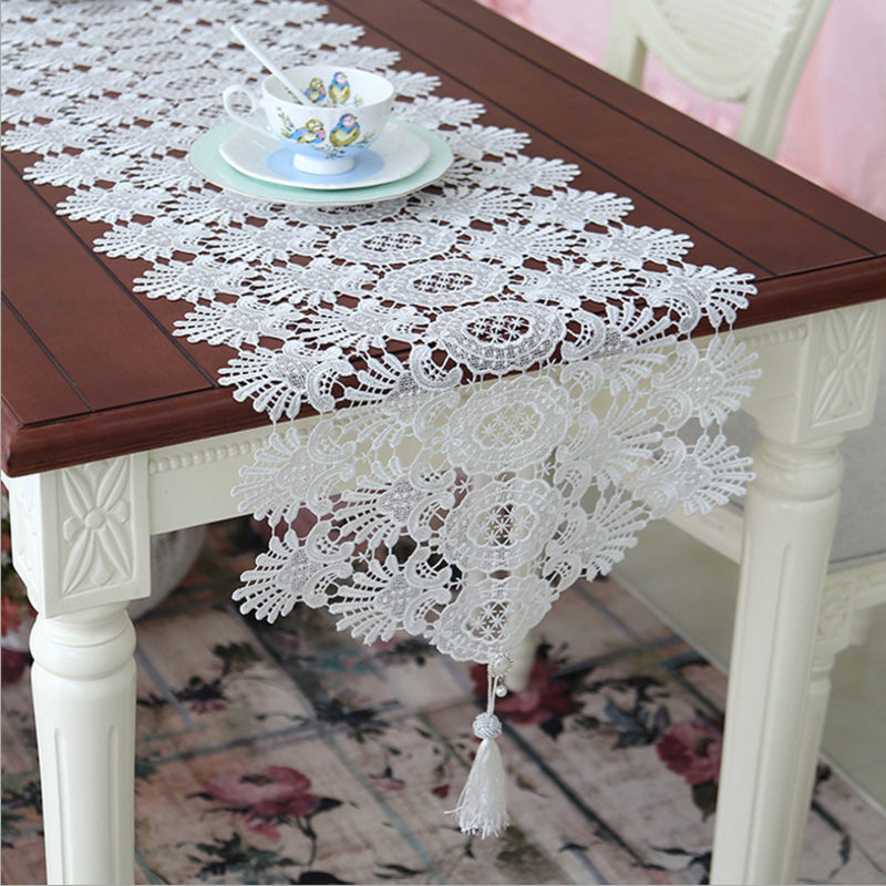 BD European Table runner elegant lace table cloth with pendant decorative court luxury wedding decoration piano cover gift(China (Mainland))