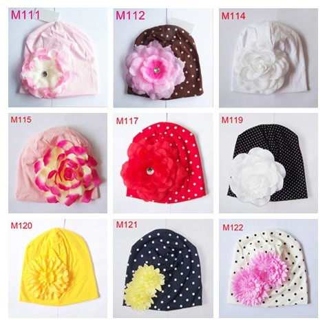 Toddler Beanie Baby Girls Perfect Flower Cotton Beanie Kids Hat More Colors 1pc H361(China (Mainland))