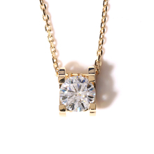 Real 18K 750 Yellow Gold AMAZING 2 Carat ct F Color Moissanite Diamond Pendant &Necklace(China (Mainland))