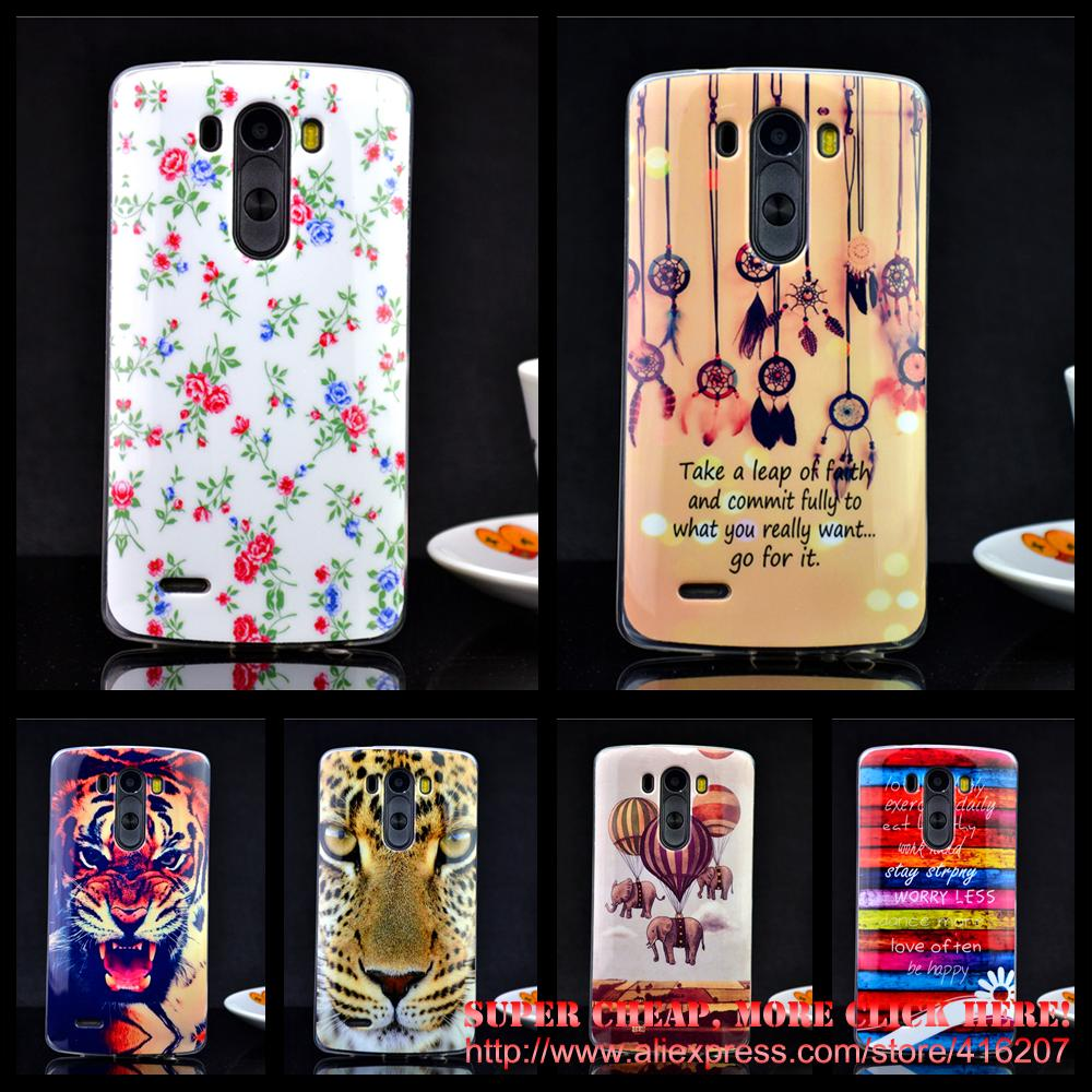 For LG G3 case Cool IMD TPU Luxury Elephant flowers TPU Silicon Soft TPU For LG G3 cell phone cases(China (Mainland))