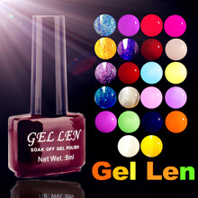 Gel Len Soak off Candy Color UV Gel Nail Polish 0.28 fl.oz. (8 ml) long lasting nail varnish gel lacquer 300 Colors for choose