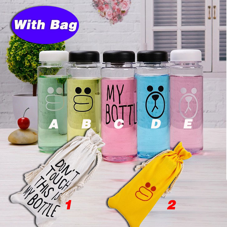 "Hot sale water bottle my bottle ""with bag"" 500ml Plastic korean style Juice Readily Cup kids Water Bicycle Sports Water bottle(China (Mainland))"