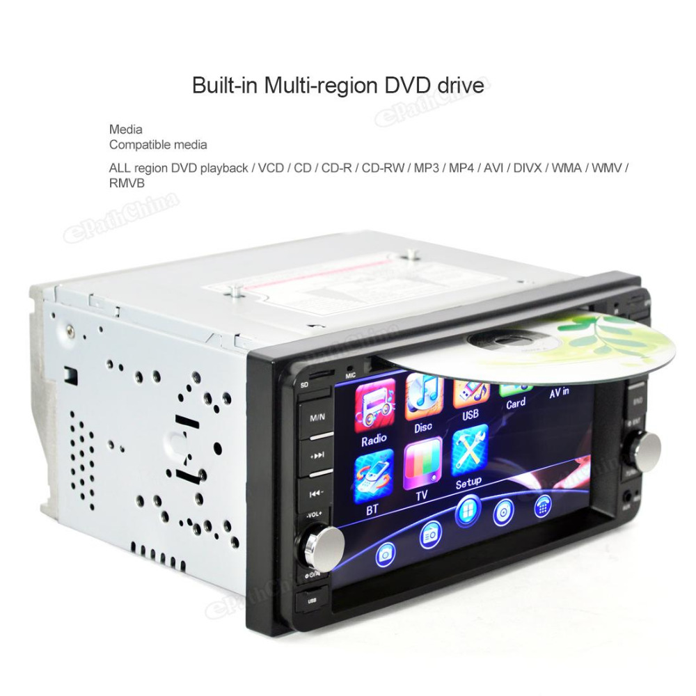 New Car DVD Stereo USB MP3 Radio Player toch screen800 x 480 pixels For Toyota Landcruiser Prado Hilux Support iPod Function(China (Mainland))