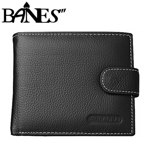 New style 100% genuine leather hasp design men's short wallets money clips, fashion brand leather wallets men with coin pocket(China (Mainland))