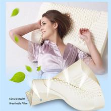 100% Natural Latex Pillow Contour Neck Pillow for Adults Dunlopillo Latex Foam Pillow Cervical Good Sleeping Almohada(China (Mainland))