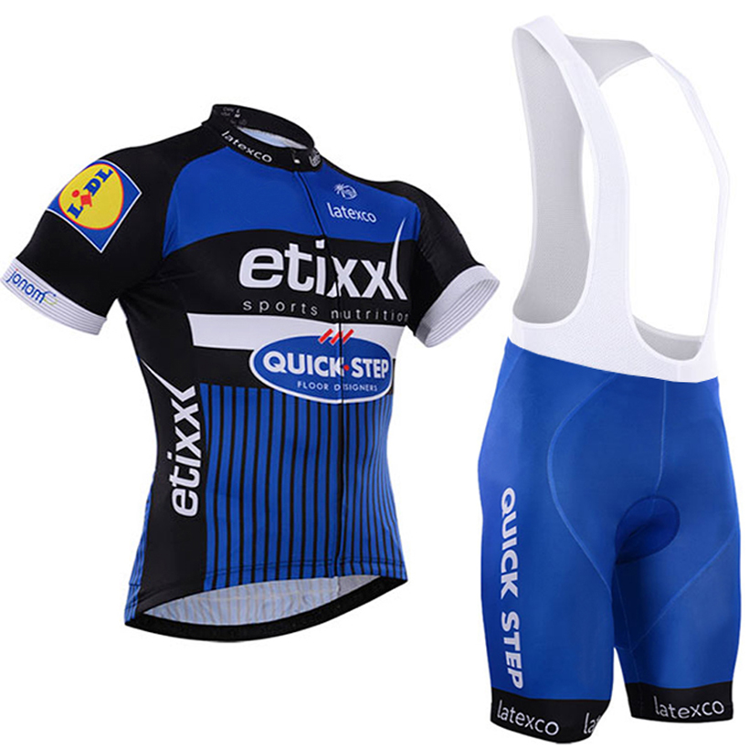 2016 team pro cycling jersey etixx bicycling shirts gel bike shorts 100% Polyester quick step Ciclismo cycle clothing suit(China (Mainland))