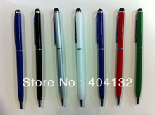 Wholesale(3000PCS) 2 in 1 Touch Stylus With Gel Ink Pen For iPad/iPhone/iPod/Samsung And More Touch Screen(China (Mainland))
