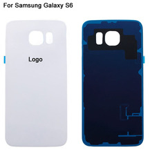Phone Battery Rear Cover For Samsung Galaxy S6 G9200 G920 G920F Housing with Logo Back Glass Door Replacement OEM High Quality(China (Mainland))
