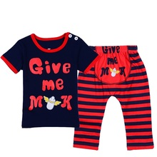Baby Sleepers Summer Short Sleeve I Love Mom and Dad Pajamas for Girls Boys Newborn Infant Pyjamas Set 2pcs Children's Pijamas(China (Mainland))