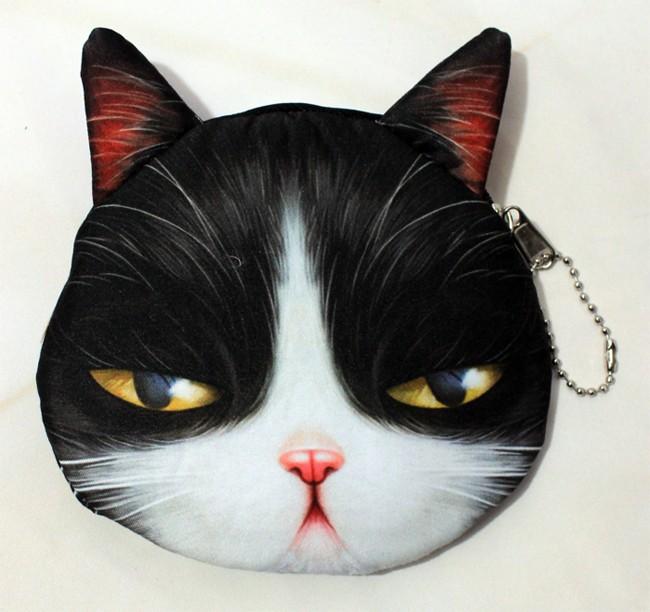 2016 новый кот портмоне милые дети мультфильм каваи сумка монет чехол кошелек держатель женщины монет