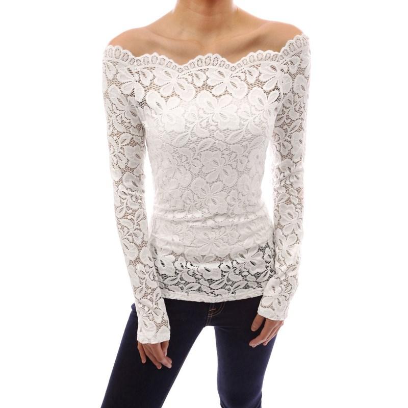 New Autumn Blusas 2016 Sexy Zanzea Women Slash Neck Lace Crochet