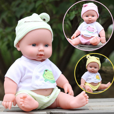 30cm Simulation Non-toxic Silicone Reborn Baby Dolls Lifelike Sound Doll Early Learning Baby Toy Kids Christmas New Year Gifts(China (Mainland))