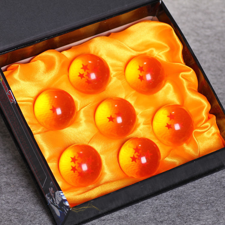 Foreign trade designated products resin craft ornaments ball 4cm seven craft ornaments Dragon Ball Dragon Ball Set Free shipping(China (Mainland))