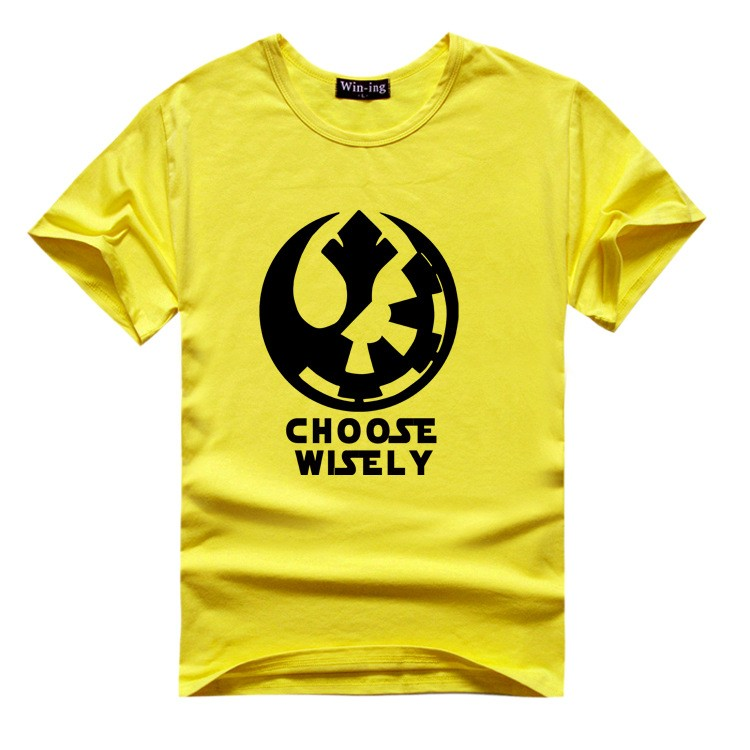 "New "" Choose Wisely "" Star Wars Galactic Empire Rebel Alliance Print T-shirt Cotton Unisex Sun Tee Shirts Teen Loose Homme Tops  HTB1qH.zLVXXXXawXVXXq6xXFXXXN"