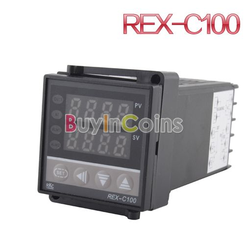Dual Digital PID Celsius Termometro Temperature Control Controller Thermocouple REX-C100 US AS #11783(China (Mainland))