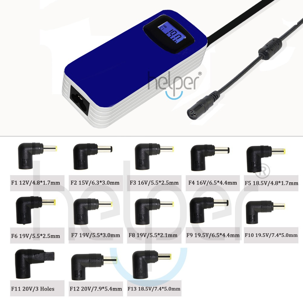 12v-24V Universal charger New Automatic LCD 90W Universal Power Supply Adapter Charger LCD For Notebook Laptop(China (Mainland))