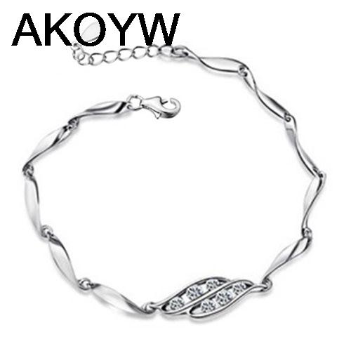 Silver plated six crystal bracelet fashion female models cute vintage jewelry wild super flash crystal jewelry(China (Mainland))