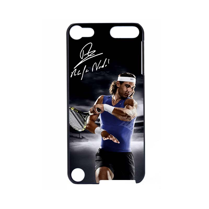 Powerful Tennis Superstar Rafael Nadal Black Hard UV Case For Apple ipod Touch 5 Colorful Printing(China (Mainland))