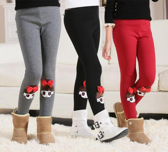 Мода зима милая девушка мех брюки модальный детей девушки вилли брюки детей девушки гетры брюки