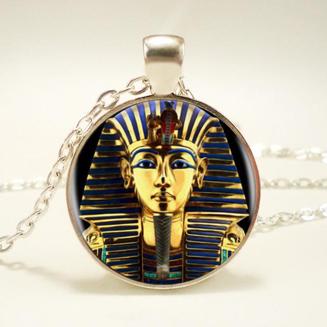 1 шт./лот King Tut Логотип Ожерелье Тутанхамона Золотой Король Искусства Ручной Работы ...