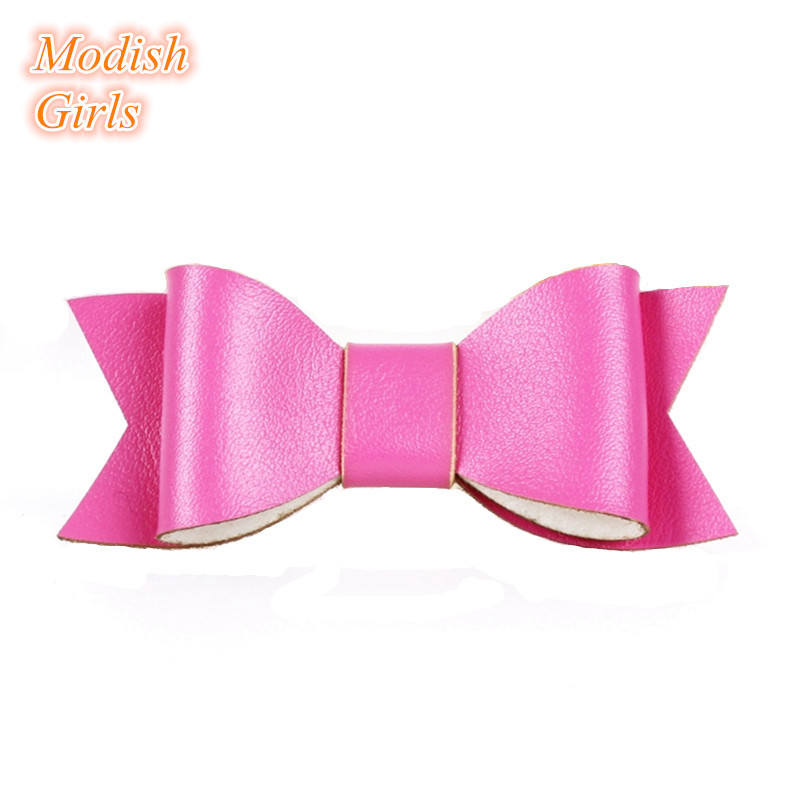 2015 New Hotsale Glitter Hairpins Felt Artificial Leather Bow Hair Clips Baby Fashion Hair Accessory Head Wear Bow Hair Grips(China (Mainland))