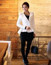 Women Tuxedo Suit Ladies Business Formal Suits Work Coat Elegant Ruffle Jacket Office Peplum Blazer