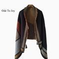 2016 new style Women Winter phocho Knitted Scarf Female soft acrylic jacquard geometric Warm cashmere Shawls