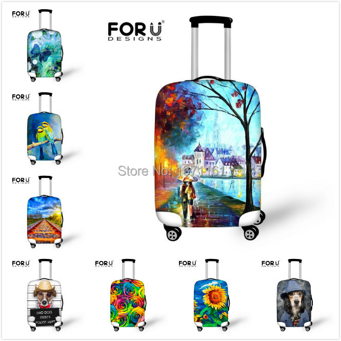 2015 Fashion Elastic Protective Waterproof Luggage Cover for Travel 22-26 Inch Trolley Suitcase Dust Rain Cover Free Shipping(China (Mainland))