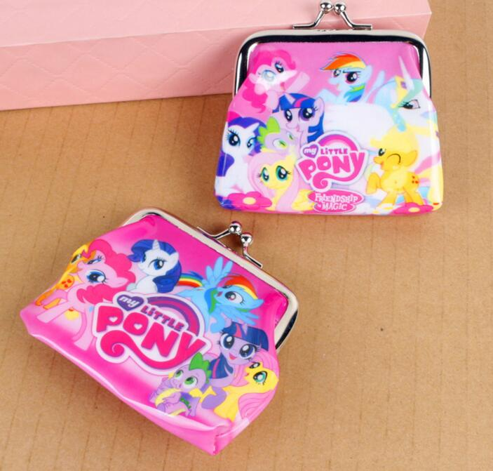 New cartoon my little pony Coin Purse kids wallet Girls Kids money bag Children Party Gift in stock