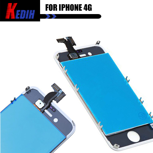 High quality replacement LCD + Touch Screen Glass Assembly+tools set For iphone 4 4g white ree shipping(China (Mainland))
