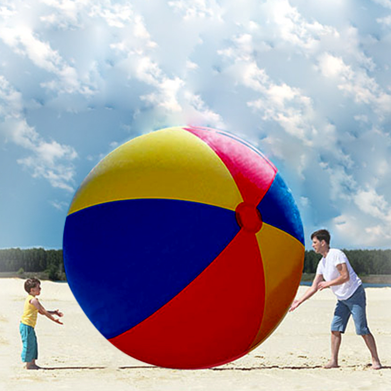 Hot Sale Charm Super Large Colorful Inflatable Beach Ball Pool Swimming Ball Outdoor Play Games Ball 200 CM PVC(China (Mainland))