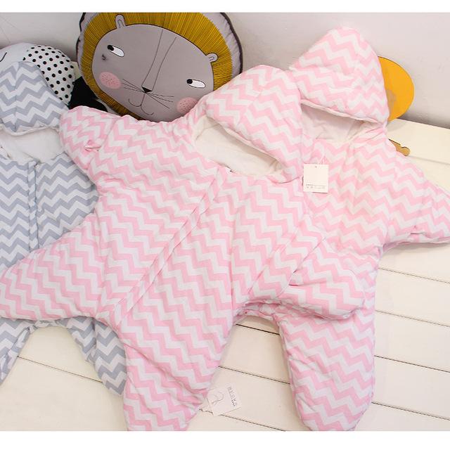 Симпатичные морская звезда мультфильм спальный мешок новорожденных зимние коляски ...
