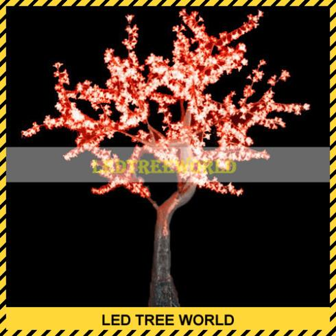 2M(7ft) 80W Red LED Cherry Tree 1440 LEDS(China (Mainland))