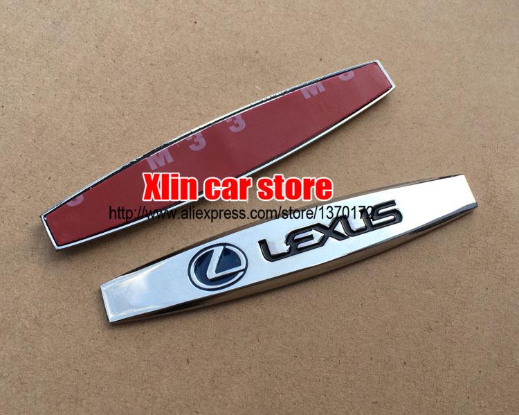 Lexus Logo Car Fender Side Emblem Badge Decal Rear Bumper