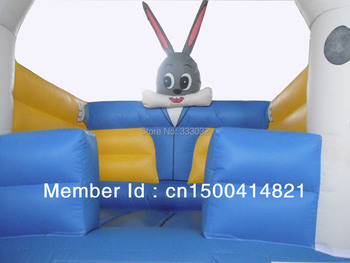 New rabbit  Bouncers inflatable bounce moonwalk jumper with size 10ft*10ft(3m*3m)+CE/UL blower+1 repair kit bouncy castle
