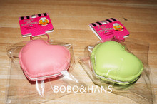 New Cute heart shape macaroons squishy charm / mobile phone strap / Wholesale(China (Mainland))