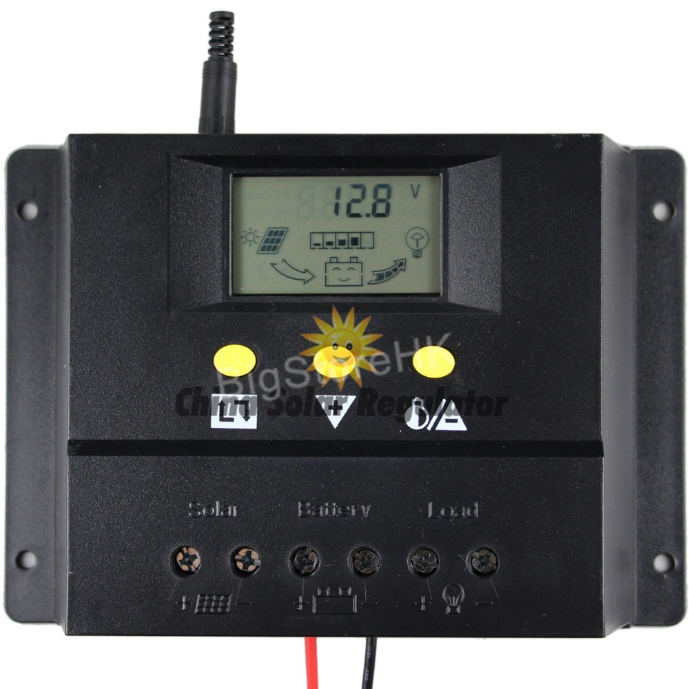 80A Solar charge controller 12V 24V 1000W 2000W solar panel LCD screen display PWM charging for off grid PV controller solar(China (Mainland))
