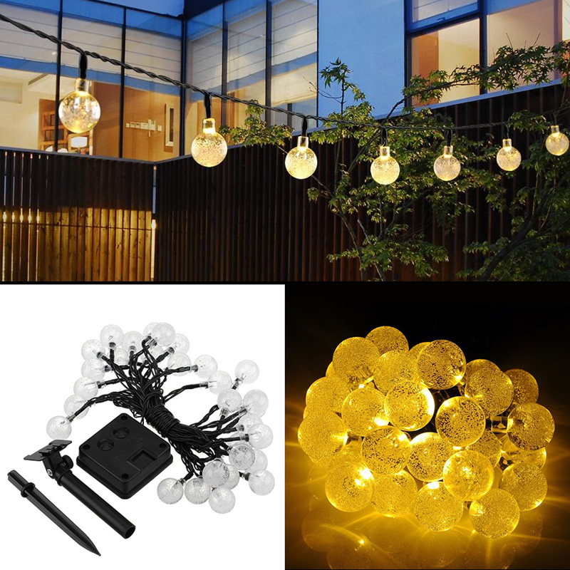 Waterproof Solar 30LED Outdoor Party String Fairy Light Festival Ambience Light(China (Mainland))