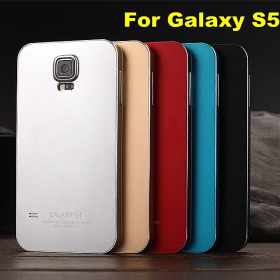 Luxury Luphie Brand aluminum alloy metal frame battery back cover case for Samsung galaxy s5 i9600