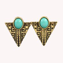 New vinatge jewelry Triangle alloy dangle drop earring gift for women girl E2688(China (Mainland))