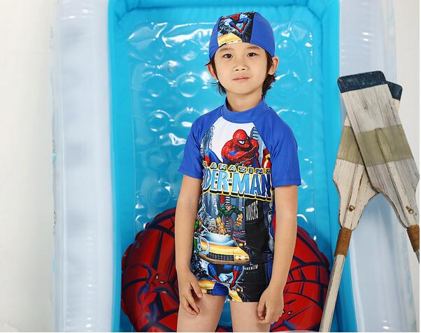 Плавательный костюм для мальчиков Child boy rash guards uv protection  two-piece surfing swimsuit
