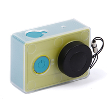 Protective case for xiaomi YI action camera Light weight Transparent protective cover with lens cap for Xiaomi Yi