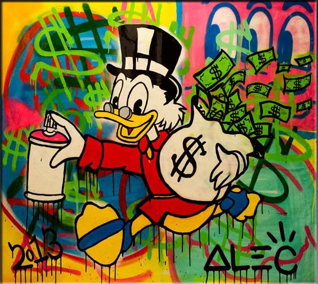 Alec monopoly art canvas Handpainted POP ART Giclee poster handpainted on canvas for wall decoration painting(China (Mainland))