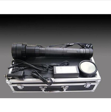 Rechargeable HID Torch Lumen 85W Dual Power 1000Meters Xenon Light Tail Light Black Aluminum Alloy HID Flashlight(China (Mainland))